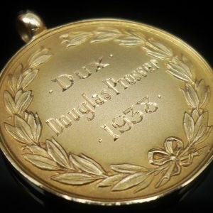 9ct Gold DUX Medal, Inverurie Academy, John Sutherland Medal, 1938