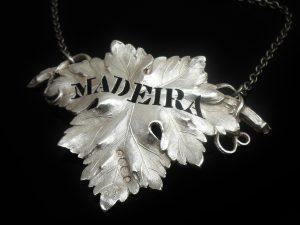 Antique Silver Decanter Label, Madeira, 1840