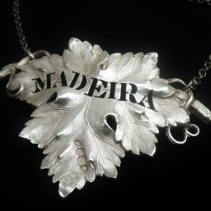 Antique Silver Decanter Label, Madeira, 1840
