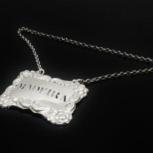 Scottish Provincial Silver MADEIRA Decanter Label, Alex Cameron, Dundee c.1820