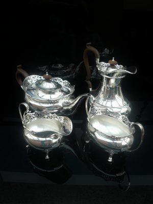Silver 4 Piece Teaset, Birmingham 1915, George David Rattray