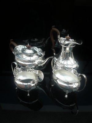 Silver 4 Piece Teaset, Birmingham 1915, George David Rattray