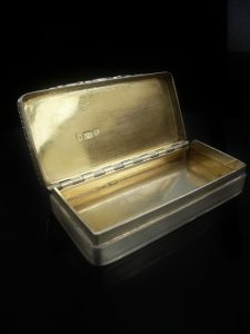 Silver Snuff Box Gold Cartouche, Edward Smith1827