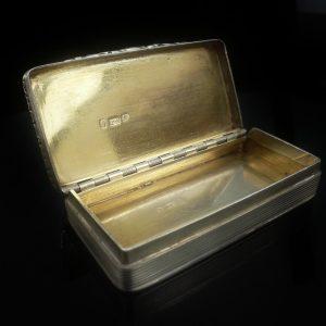 Silver Snuff Box Gold Cartouche, Edward Smith1827