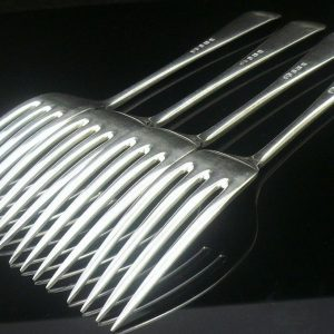 4 silver dinner/table forks, Elkington & Co 1932