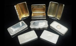 Antique Sterling Silver Snuff Boxes