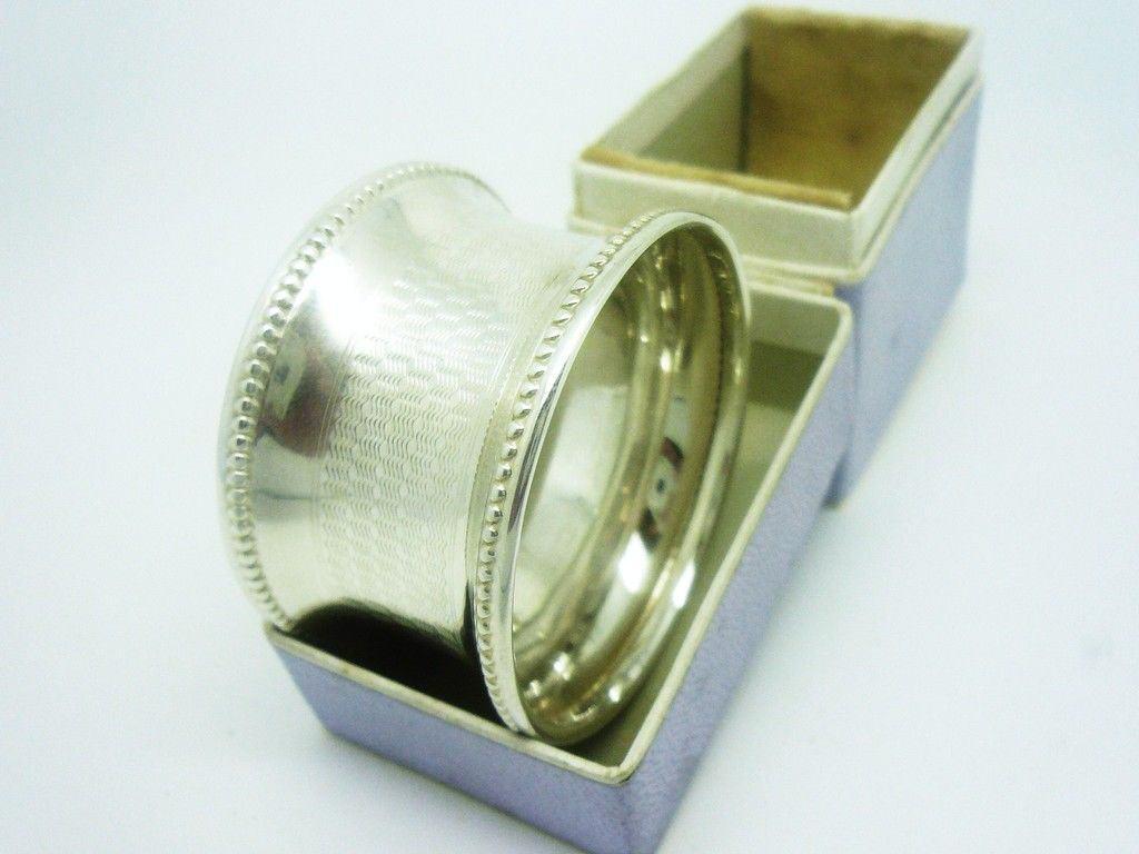 silver napkin ring henry williamson birmingham 1918