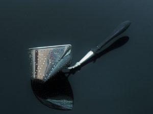 Silver Tea Strainer, Dutch Import, London 1929, L Neresheimer & Co