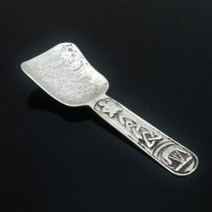 Iona Silver Caddy Spoon, Hamish Dawson Bowman c.1950