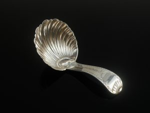 Silver Caddy Spoon, Thomas Bradbury & Sons Ltd, Sheffield 1923
