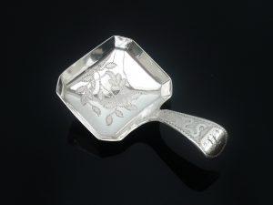 Silver Caddy Spoon, Cocks & bettridge, Birmingham 1810