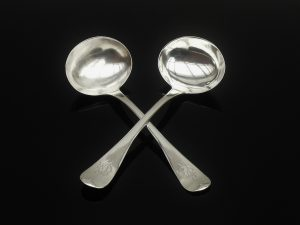 Pair Silver Sauce Ladles, Richard Crossley, London 1806