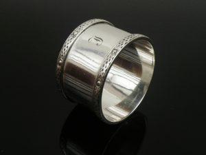 Silver Napkin Ring, CELTIC KNOT, J B Chatterley & Sons Ltd, Birmingham 1959