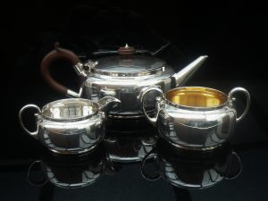 Silver Teaset, Martin Hall & Co, Sheffield 1925