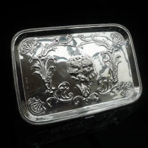 Silver Tray, Thomas Hayes, Birmingham 1903, Reynolds Angels & Shells