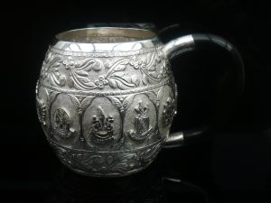 Middle Eastern Persian Tankard Mug, City Crests