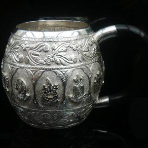 Middle Eastern Persian Tankard Mug, City Crests