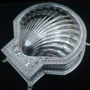 Silver Clam Shell Inkwell, Sebastian Henry Garrard, London 1901