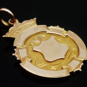 9ct Gold Fob Medal, Monkland Agricultural Society 1905