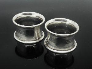Pair Silver Napkin Rings, Docker & Burn Ltd 1920
