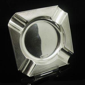 Sterling Silver Ash Tray, Emile Viner 1938