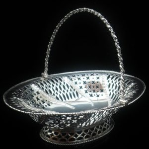 Antique Silver Basket, London 1774, Burrage Davenport