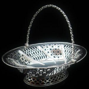 Antique Silver Basket, London 1774, Burrage Davenport