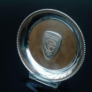 Silver Pin Tray Dish, CIGB ICOLD, Istanbul 1967 Ninth Congress