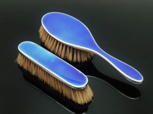 Silver Enamel Brushes, Barker Brothers Silver Ltd 1929