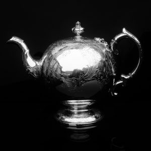 Scottish Antique Silver Bullet Teapot, William Marshall 1804