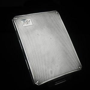 Silver Cigarette Case, Birmingham 1942, Smith & Bartlam
