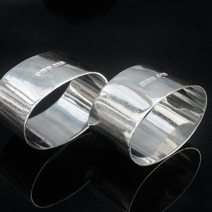 Pair Silver Napkin Rings, Sheffield 1946, R F Mosley & Co