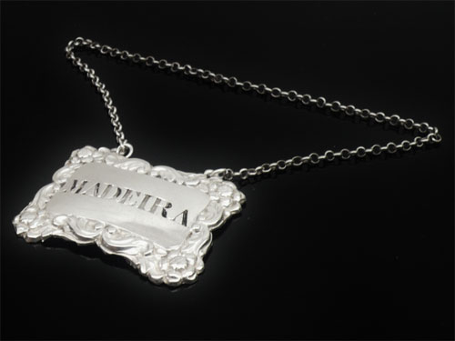 Silver Decanter Label