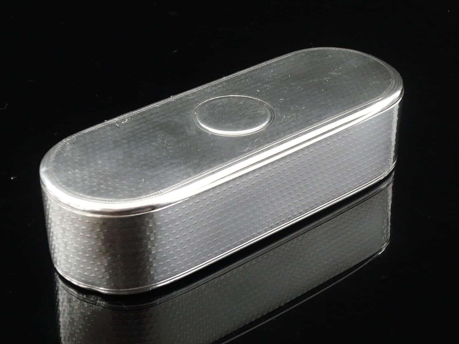 Antique Sterling Silver Snuff Box London 1864 William