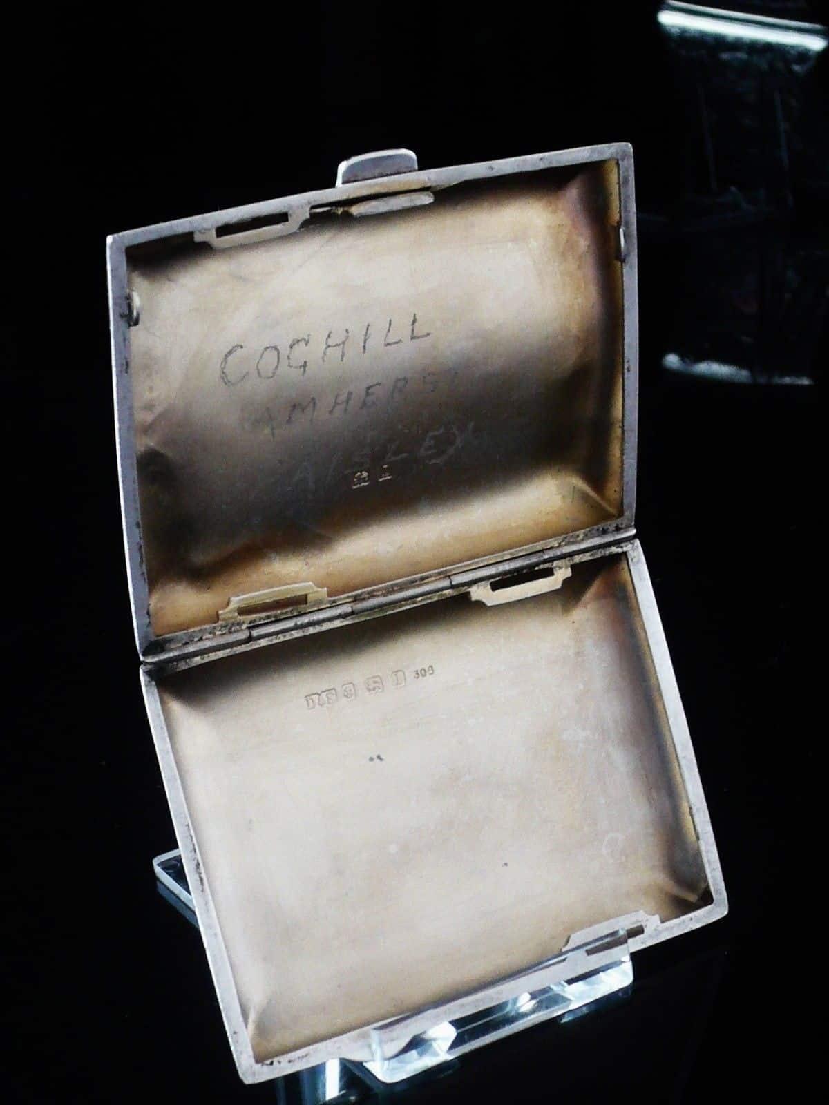 Attractive Sterling Silver Cigarette Case Birmingham 1910