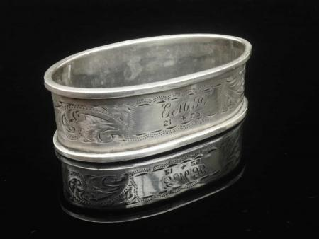 Silver Napkin Ring, J & R Griffin (Joseph & Richard Griffin), Chester 1924
