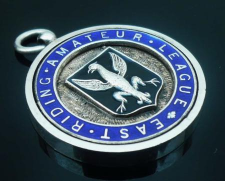 Enamel Pocket Watch Fob Medal, East Riding Amateur League 1927