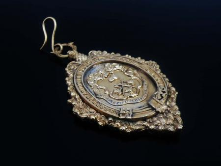 Incorporation Fleshers Glasgow Gilt Medal in Case from 1888-89