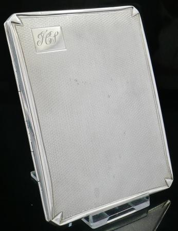 Silver Cigarette Case, Birmingham 1942, Smith & Bartlam