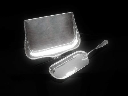 Silver Crumb Scoop & Tray, Sheffield 1915, Mappin & Webb