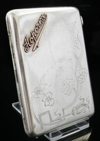Russian Silver and Gold Cigarette Case, c.1900