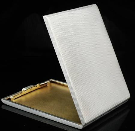 Quality Heavy Silver Cigarette Case, Birmingham 1942, Morgan & Boon