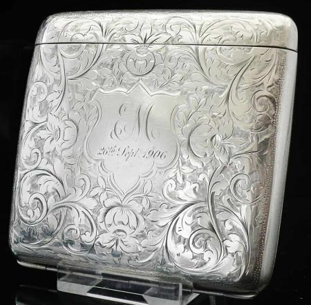 Collapsable Silver Cigarette Case, Birmingham 1905, Robert Chandler