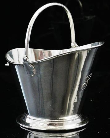 Novelty Silver Coal Scuttle Sugar Bowl, Birmingham 1902, Deakin & Francis