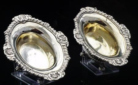 Pair of Paul Storr Silver Salts, London 1830
