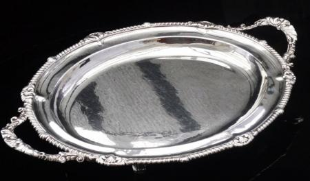 Paul Storr Antique Silver Serving Tray, London 1826