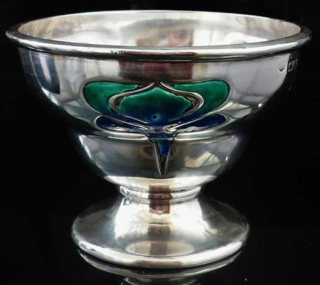 Silver Enamel Bowl, William Hutton for Liberty, London 1903