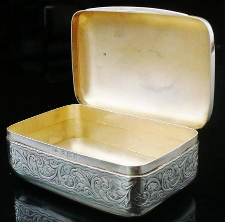 Silver Soap Box, G Loveridge & Co (George Loveridge), Birmingham 1908