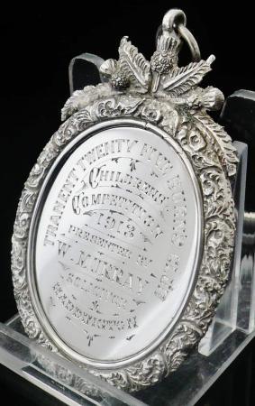 Tranent Twenty Five Burns Club Silver Medal, Birmingham 1912, Original Case