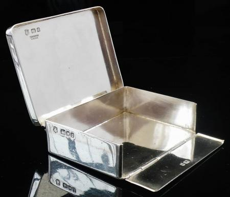 F Osborne Silver Bible Box